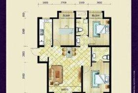 锦绣天地B区3室2厅2卫155万93平方米