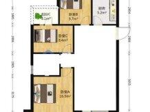 三江共和城毛坯小高层三房双卫南北通透看房方便
