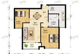 知音半岛 2室 2厅 88.66平米