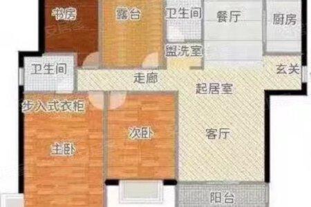 品尚雅居精装修4室南全明户型性价比高二手房